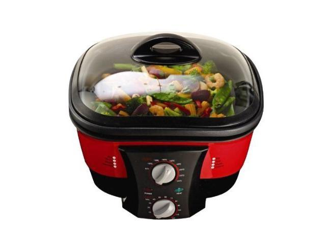 Go Chef 8 in 1 Cooker GoChef is the incredible 8-in-1 cooker - you can boil, saut?, fry, fondue, slow cook, steam, bake and roast ...