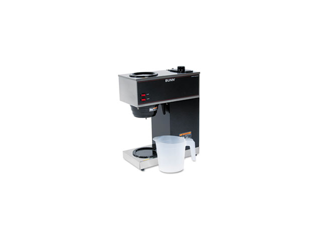 Bunn-O-Matic Corporation BUNVPR 2-Warmer Coffee Brewer- 16in.x8in.x20in.- Stainless Steel-Black