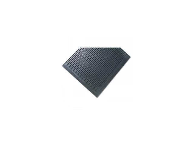 Crown-Tred Indoor/Outdoor Scraper Mat, Rubber, 44-1/2 x 67-3/4, Black
