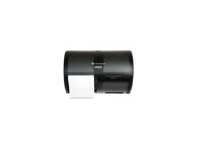 Coreless 2-Roll Tissue Dispenser,10 1/8 x 6 3/4 x 7 1/8,Smoke/Gray