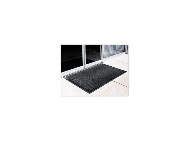 Crown-Tred Indoor/Outdoor Scraper Mat, Rubber, 34-1/2 x 58, Black