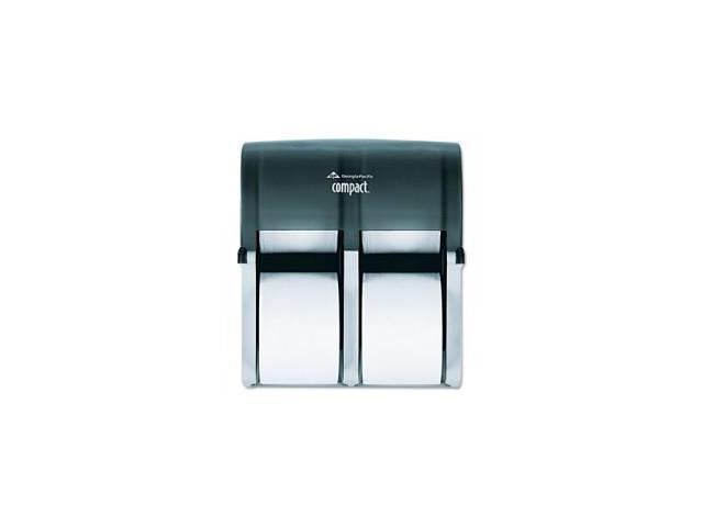 Four Roll Coreless Tissue Dispenser, 11 3/4 x 6 9/10 x 13 1/4, Smoke