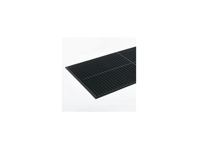 Safewalk-Light Heavy-Duty Antifatigue Mat, Rubber, 36 x 60, Black