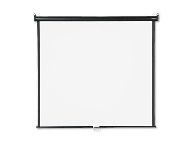 Wall or Ceiling Projection Screen, 60 x 60, White Matte, Black Matte C