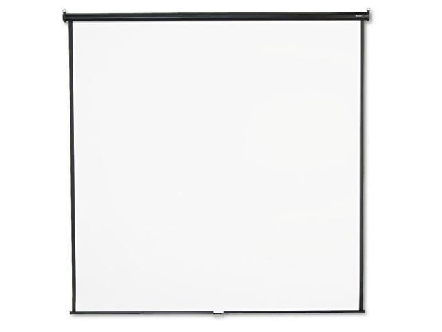 Wall or Ceiling Projection Screen, 96 x 96, White Matte, Black Matte C
