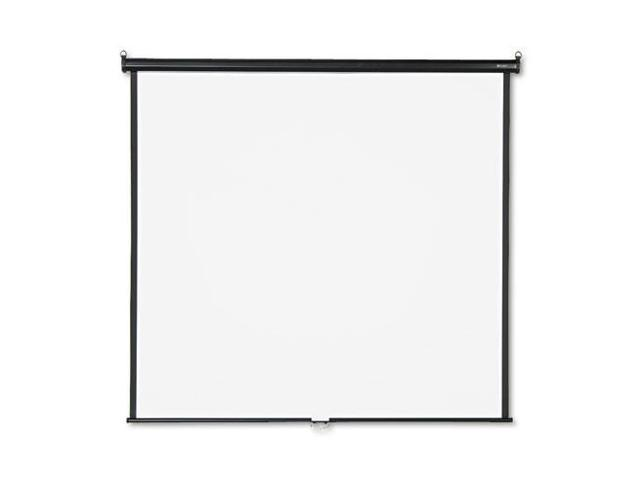 Wall or Ceiling Projection Screen, 70 x 70, White Matte, Black Matte C