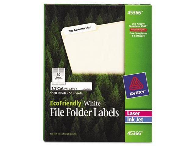 Avery Consumer Products AVE45366 File Folder Labels- .67in.x3-.44in.- White