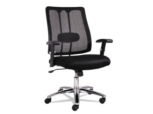 EM Series Mesh Lumbar Chair, 26-5/8w x 24-7/8d x 38-5/8 to 41-5/8h, Bl