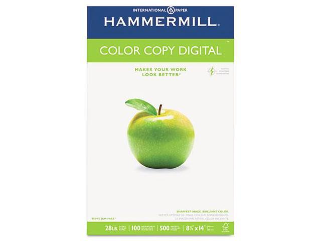Hammermill 102475 Color Copy Paper, 100 Brightness, 28lb, 8-1/2 x 14, Photo White, 500/Ream