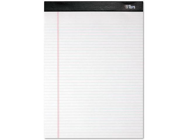 Double Docket Ruled Pads, Narrow Rule, Ltr, White, 4 100-Sheet Pads/Pa