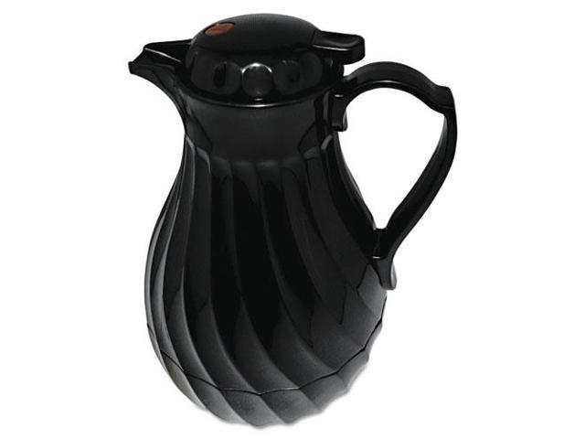 Poly Lined Carafe, Swirl Design, 64Oz Capacity, Black