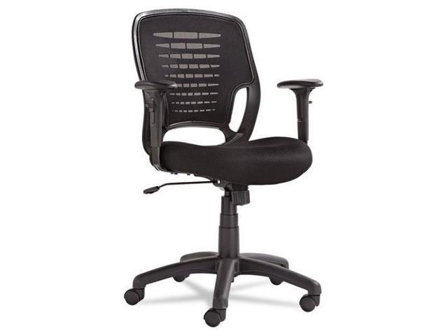 Swivel/Tilt Mesh Task Chair, Black Arms/Base, Black