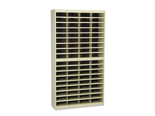 Steel/Fiberboard E-Z Stor Sorter, 72 Sections, 37 1/2 X 12 3/4 X 71, S