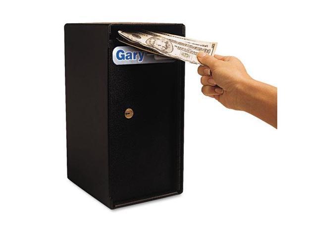 Theft Resistant Compact Cash Trim Safe, 0.2 Ft3, 6W X 7D X 12H, Black
