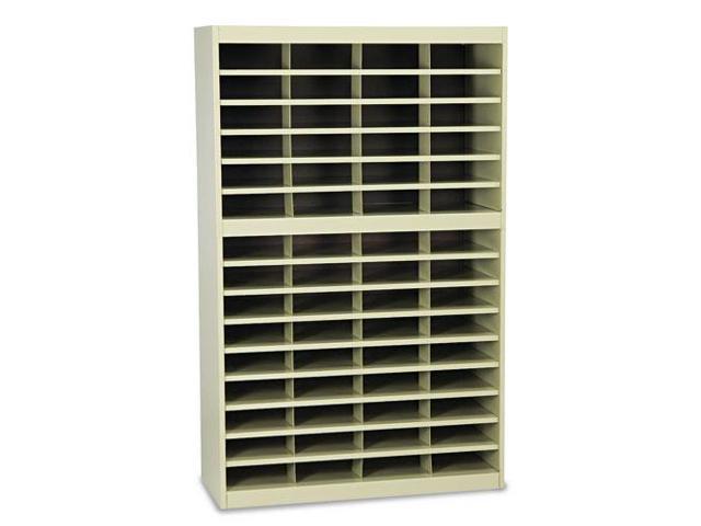 Steel/Fiberboard E-Z Stor Sorter, 60 Sections, 37 1/2 X 12 3/4 X 60, S