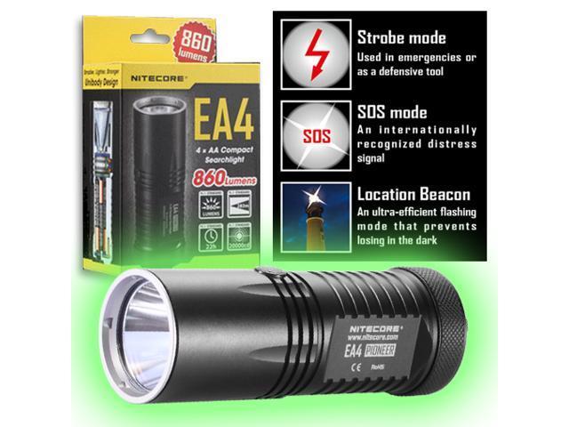 Nitecore EA4 Pioneer Compact LED Flashlight - 860 Lumens