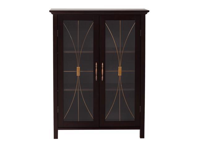 Veranda Bay Dark Espresso 2 Door Floor Cabinet