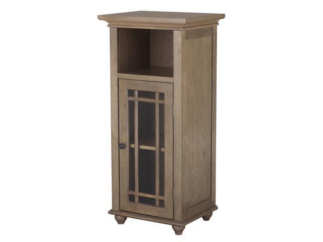Corina 1 Door Floor Cabinet with Open Shelf
