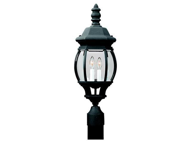 Sea Gull Lighting Two Light Black Post Fixture in Black - 82200-12