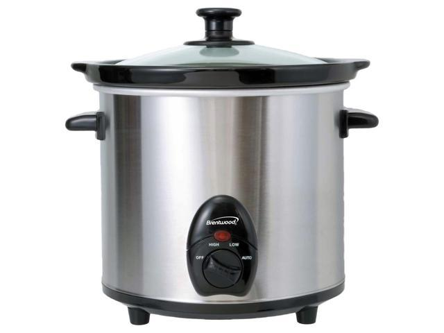 Brentwood SC-130S 3.0 Quart Stainless Steel Slow Cooker