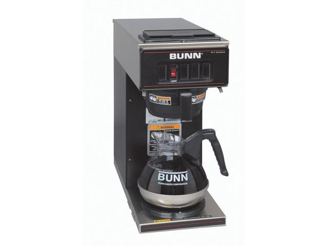 Bunn VP17-3 BLK Black Pourover Commercial Coffee Brewer and Three Lower Warmers