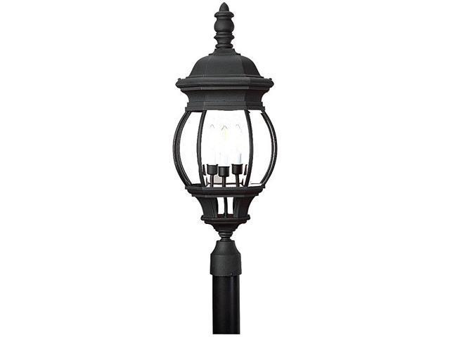 Sea Gull Lighting Three Light Black Post Fixture in Black - 82201-12