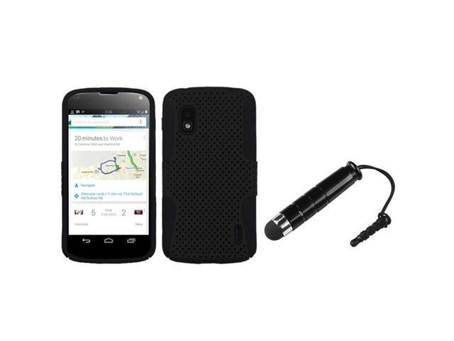BasAcc Black/ Black Astronoot Case/ Stylus for LG Nexus 4 E960
