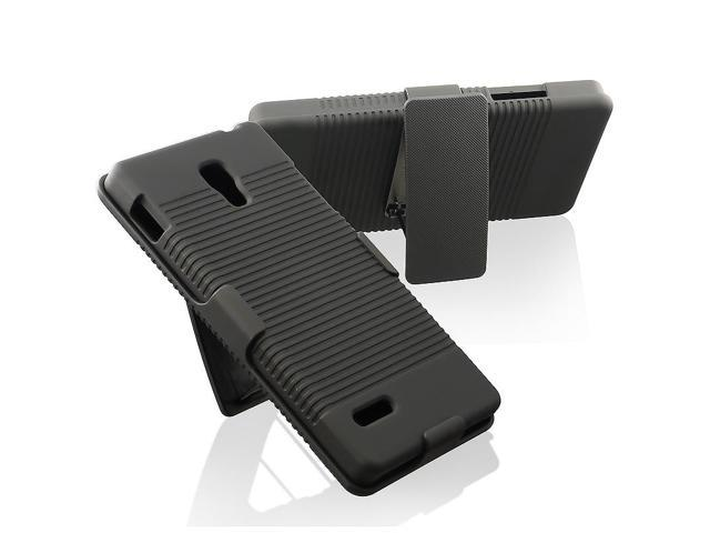 BasAcc Black Swivel Holster with Stand for LG Optimus L9 P769