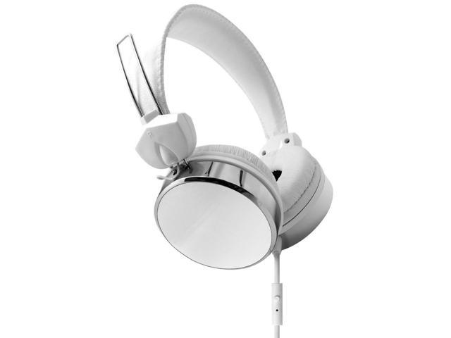 Hype Audio Stereo Eclipse Performance Headphones w/ Mic & Answer Control White