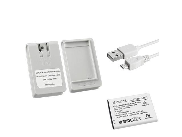 BasAcc Charger/ Micro USB Cable/ Battery for Samsung Galaxy Note N7000