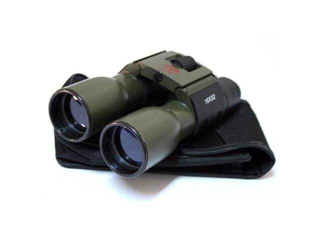 Dark Green Plastic Binocular 94M/1000M Blue Coated 16x32