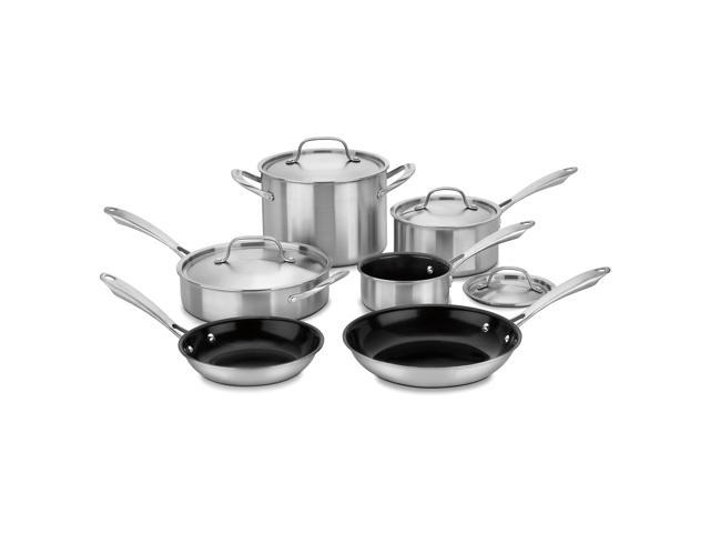 Cuisinart GGT-10 Gourmet 10pc Tri-Ply Stainless Steel Cookware Set