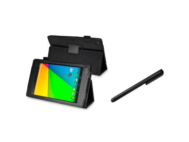 BasAcc Black Leather Case/ Black Stylus for Google New Nexus 7