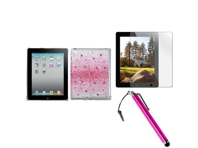 INSTEN Pink Blizzard Tablet Case Cover/ Protector/ Stylus for Apple iPad 2/ 3/ 4
