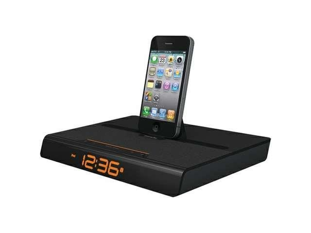 Xtrememac 02404 Luna Voyager Alarm Clock Docking Station compatible with iPod®(R)/iPhone®(R)/iPad®