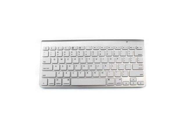 Ultra-Slim Bluetooth Wireless Keyboard for iPad, iPhone, PC, Mac, Windows or Android (Silver)