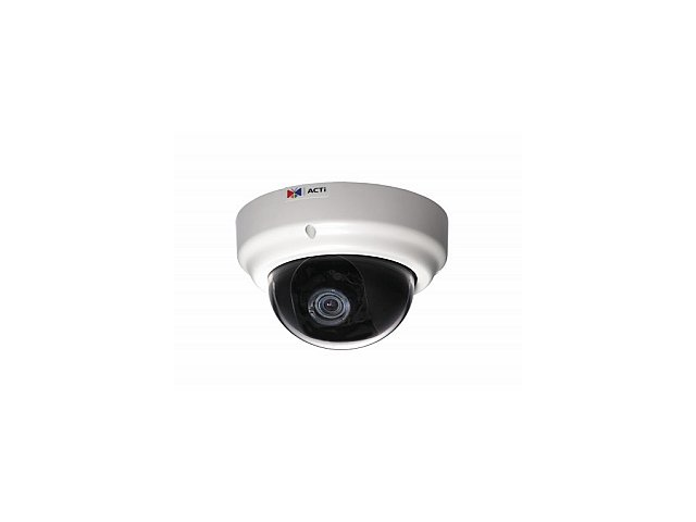 ACTi KCM-3311 RJ45 4M Indoor Dome Camera with D/N,Advanced WDR, SLLS, 3.6x Zoom Lens