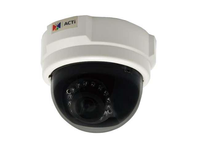 ACTi D55 RJ45 3MP Indoor Dome Camera with D/N, IR, Fixed Lens