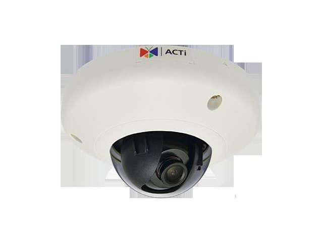 ACTi E91 RJ45 1MP Indoor Mini Dome Camera with Basic WDR, Fixed lens