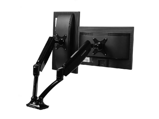 Dual LCD Monitor Stand desk clamp holds 10