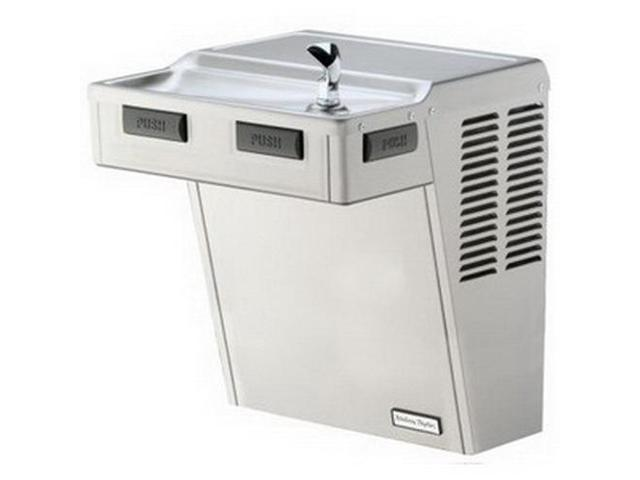 Halsey Taylor HAC8FS-Q-SS Stainless Steel Platinum Vinyl Single-Level Barrier-Free Water Cooler