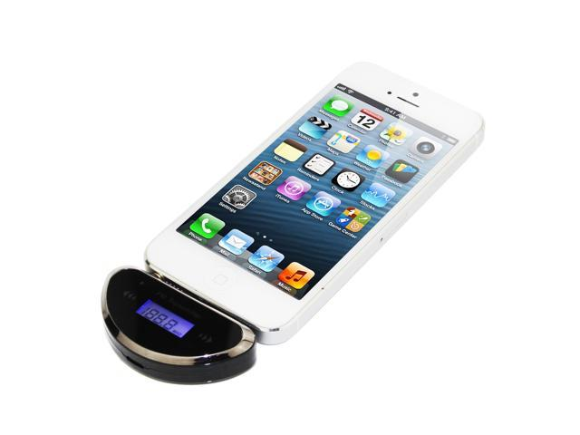 Wireless 3.5mm In-car Handsfree & Fm Transmitter for iPod / iPhone / Samsung Galaxy / Nokia / HTC Mobile Phone MP3 MP4 Black