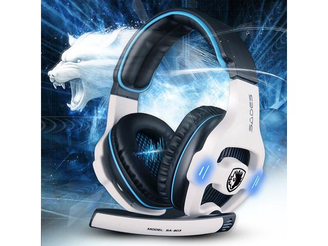 Sades SA-903 Surround Sound Effect 7.1 USB Gaming Headset Headband Headphone Earphone with Mic Microphone and Volume Control, Noise Cancellation ...