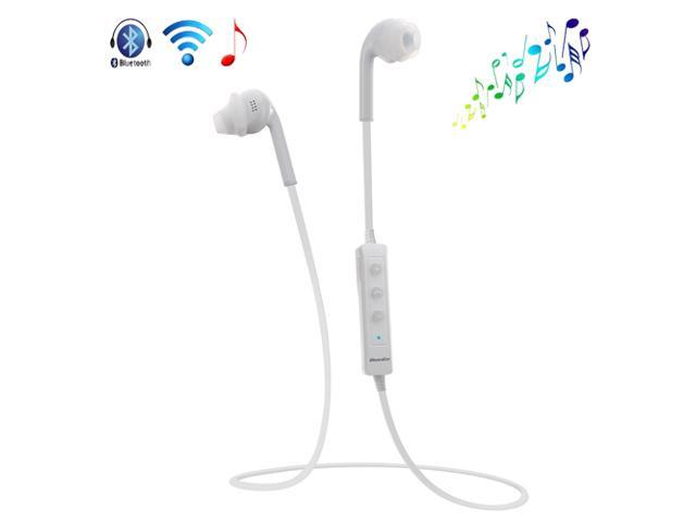White Wireless Sweat-proof Bluetooth 4.0 A2DP Stereo Headset Sport Earphone Headphone With Mic for Apple iPhone 4S 5 5G 5S 5C iPod Touch iPad 2 ...