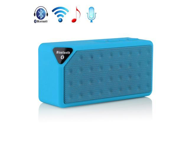 Blue Mini Wireless Bluetooth A2DP Stereo Speaker Handsfree USB Battery Powered TF/USB Speakers For Samsung Galaxy S5 S4 S3 Note 2 3 HTC One M8 ...