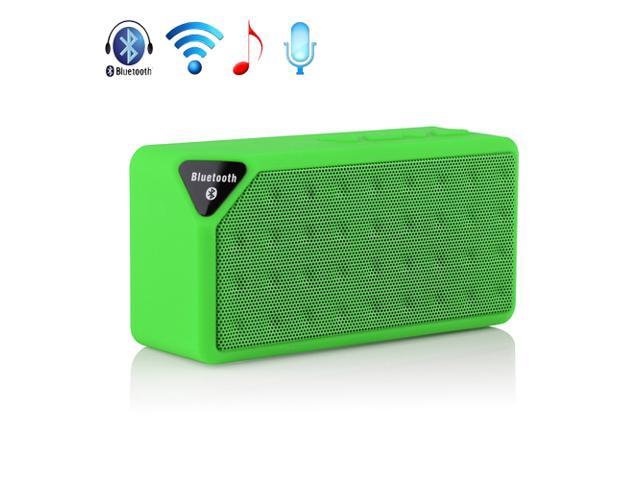 Green Mini Wireless Bluetooth A2DP Stereo Speaker Handsfree USB Battery Powered TF/USB Speakers For Samsung Galaxy S5 S4 S3 Note 2 3 HTC One M8 ...
