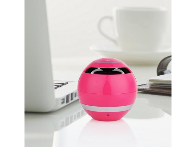 Pink Mini Portable Wireless Bluetooth Stereo Speaker Super Bass Handsfree Speakers with 3.5mm Jack Support USB TF SD For iPhone 5 5S 5C iPad 4 ...