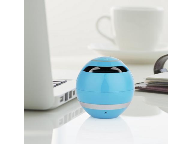 Blue Mini Portable Wireless Bluetooth Stereo Speaker Super Bass Handsfree Speakers with 3.5mm Jack Support USB TF SD For iPhone 5 5S 5C iPad 4 ...
