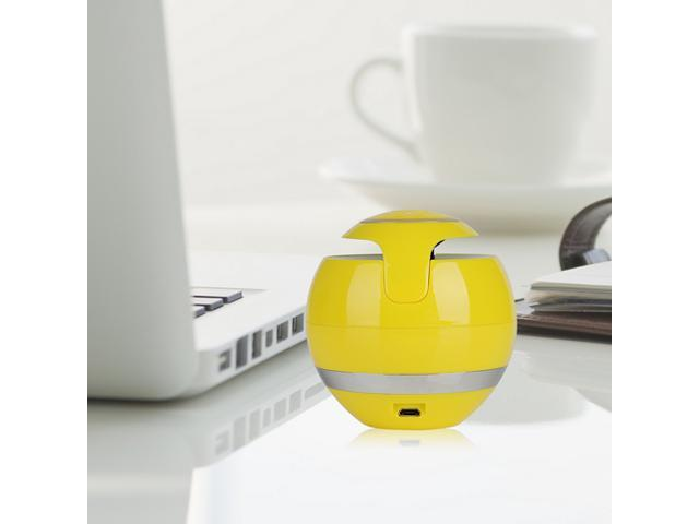 Yellow Mini Portable Wireless Bluetooth Stereo Speaker Super Bass Handsfree Speakers with 3.5mm Jack Support USB TF SD For iPhone 5 5S 5C iPad 4 ...