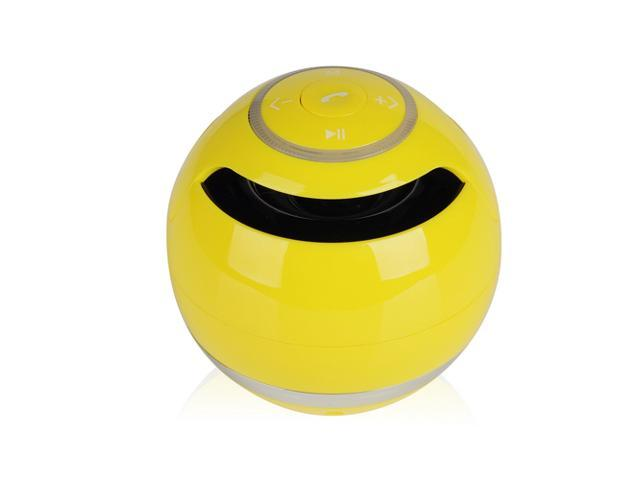 Yellow Portable Wireless Stereo Bluetooth Super Bass Handsfree Speaker Speakers with 3.5mm Jack Support USB TF SD For Samsung Galaxy S5 S4 S3 ...